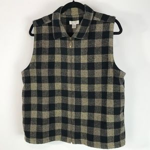 CHRISTOPHER and BANKS VEST Checker Size XL
